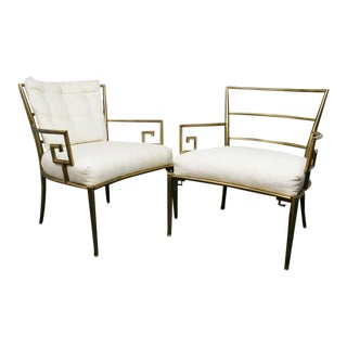Weiman Warren Lloyd Brass Lounge Chairs - A Pair