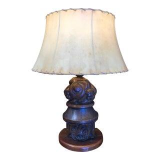 18th Century Architectural Element Lamp Conversion For Sale