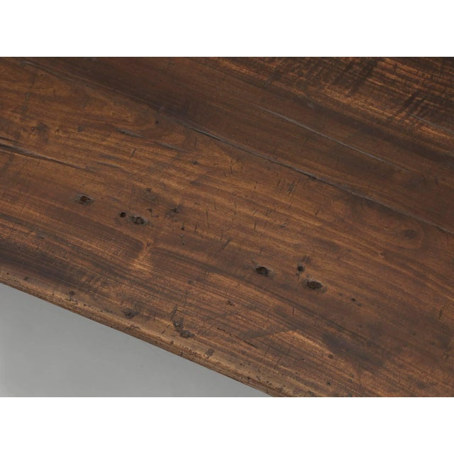 Antique French Industrial Work Table or Rustic Farm Dining Table, Circa 1900 For Sale - Image 4 of 10