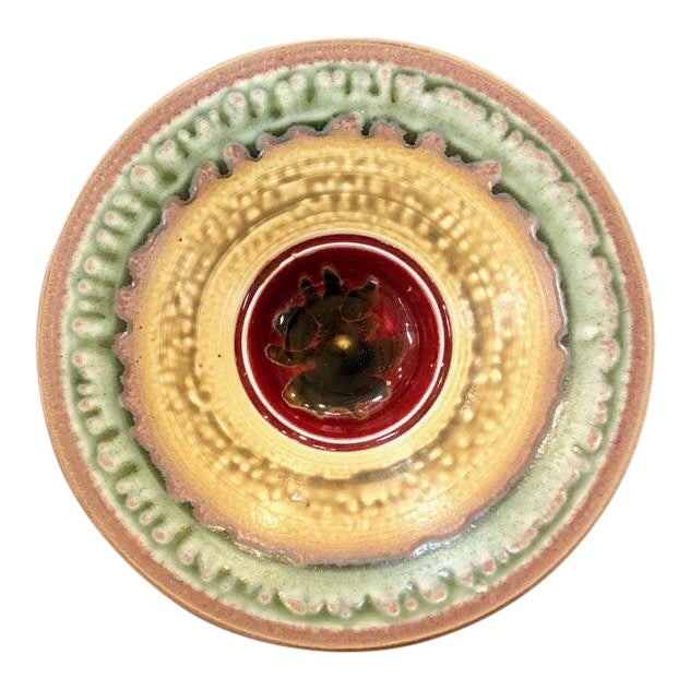 Boho chic Larry Spears Pottery Decorative Bowl For Sale