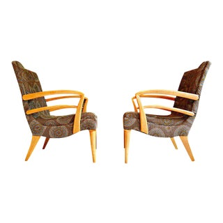 Paolo Buffo Style Club Chairs - A Pair