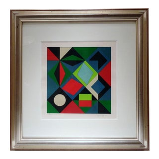 Victor Vasarely Planetary Folklore Op Art Serigraph Signed & Numbered For Sale