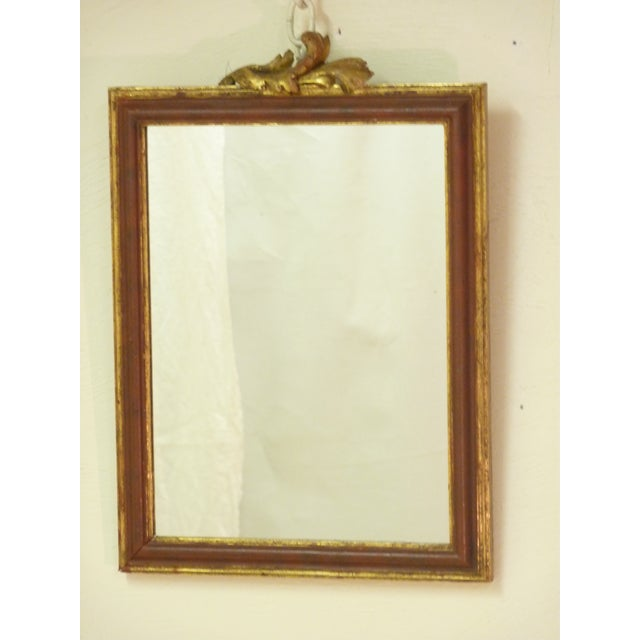 Small Mirror With Leaf Carving - Image 2 of 4