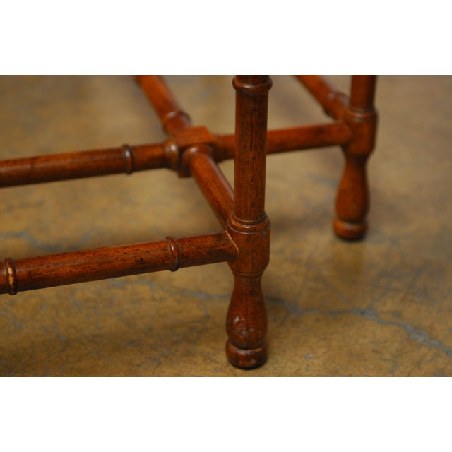 Baker Bamboo and Brass Tray Top Coffee Table - Image 9 of 10