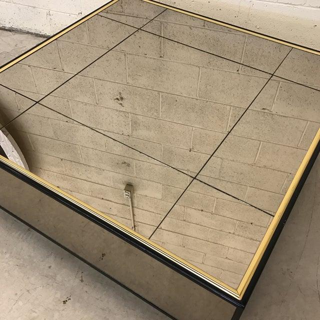 Smoke Bronze Mirror Cube Coffee Table - Image 5 of 11