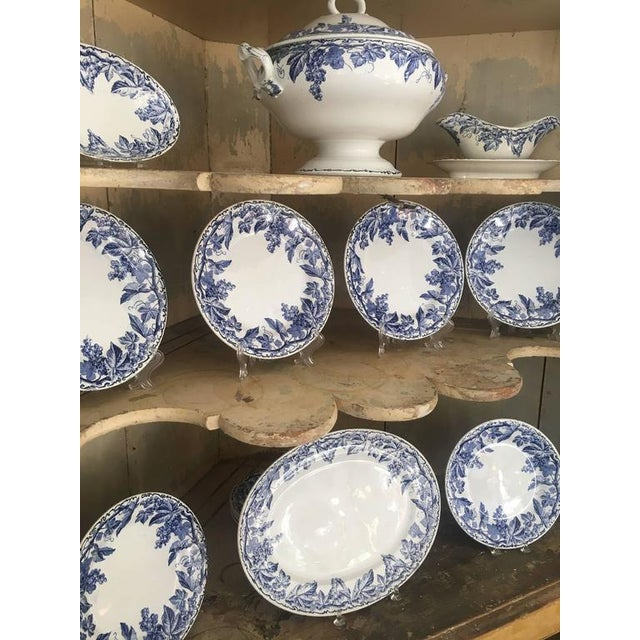 45 Piece Set of Blue and White Creil et Montereau - Image 2 of 6