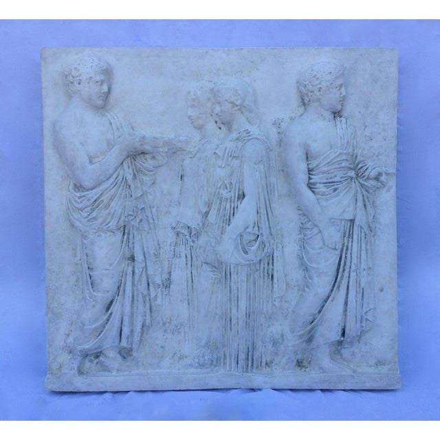 Vintage Hollywood Regency Greco-Roman Sculptural Wall Art - Image 2 of 11