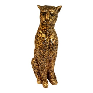 Golden Leopard With Textured Surface