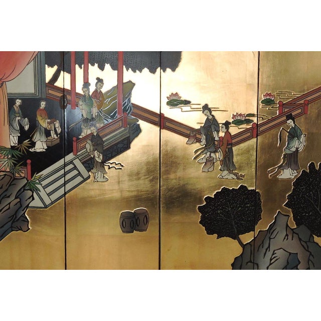 Oriental Gilt Wall Hanging, Four Panels - Image 3 of 5