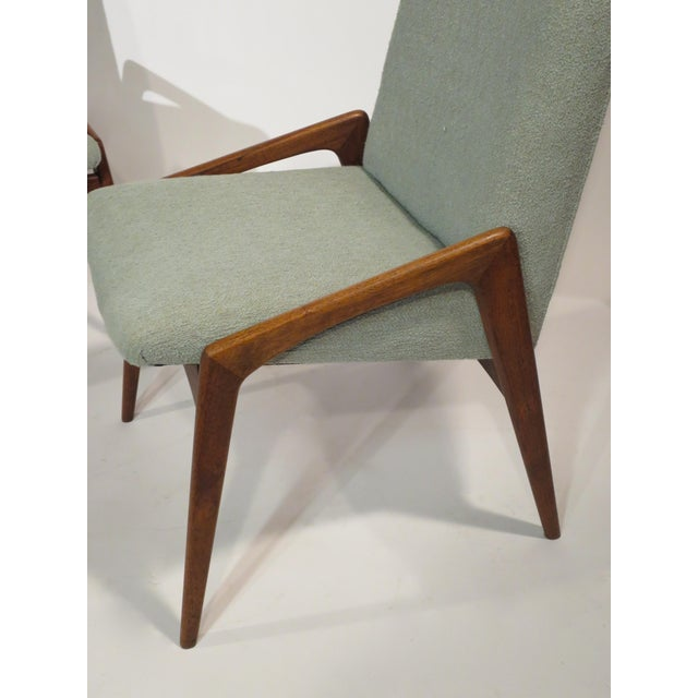 Midcentury Modern Walnut Dining Chairs - Set of 4 - Image 5 of 10