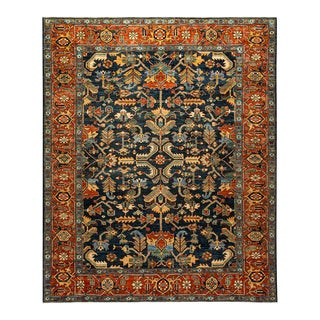 One-Of-A-Kind Oriental Serapi Hand-Knotted Area Rug, Regal, 8' 0 X 9' 7 For Sale