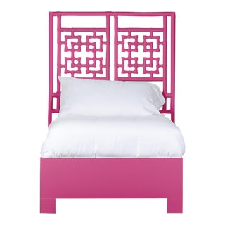 Palm Springs Bed Twin Extra Long - Bright Pink For Sale