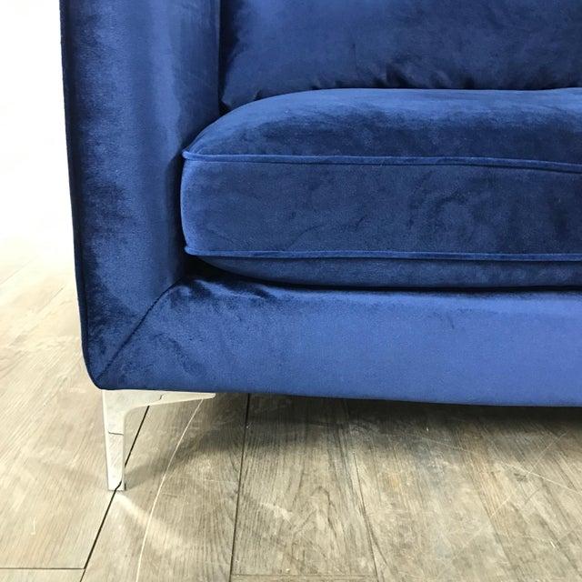Royal Blue Velvet Sofa - Image 6 of 11