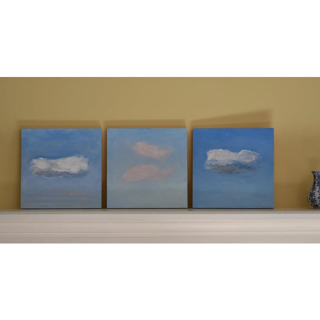 Sky Blue Small Cloud Study Hover Contemporary Painting by Stephen Remick For Sale - Image 8 of 8