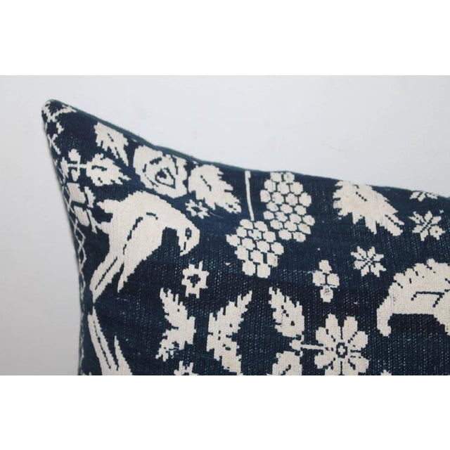 Country Signed & Dated 1853 Lanc. County Coverlet Pillow For Sale - Image 3 of 6
