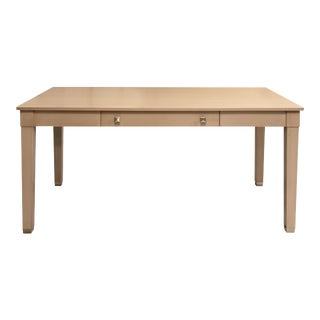 Boho Chic Kindel Furniture Writing Desk From Garden Street in Aged Grey For Sale