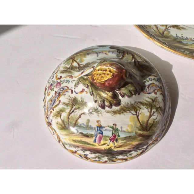 Ceramic Antique French Faience Serving Dishes - 3 Piece Set For Sale - Image 7 of 10