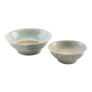 Antique East Asian Earthenware Bowls - Set of 2 For Sale