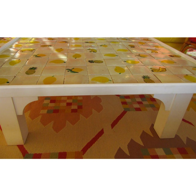 Custom Made Mario Genovesi Tile Top Table - Image 4 of 6