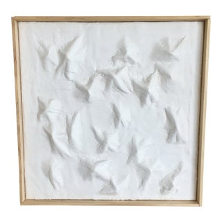 'Mountain Range' Minimalist Plaster Painting For Sale