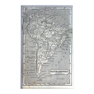 Antique 1853 Map of South America For Sale