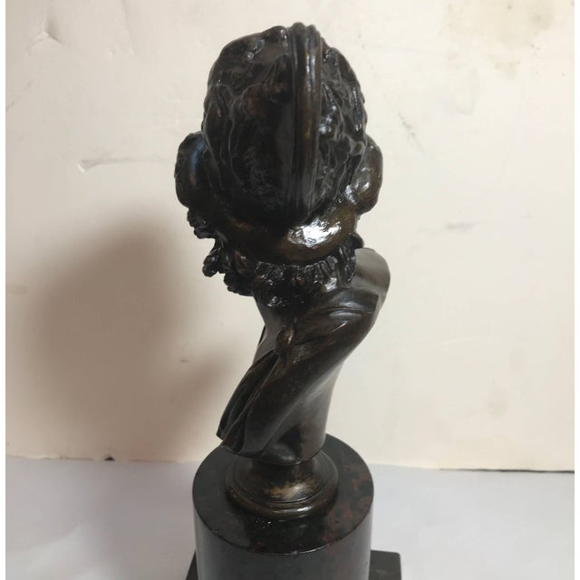 Late 19th Century Grand Tour French Bronze Bust of Ajax For Sale - Image 5 of 10