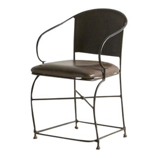 Hand Forged Sculptural Iron Accent Chair For Sale
