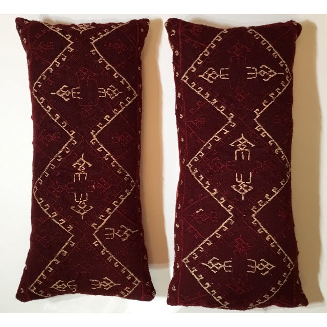 Boho Chic Hand Embroidery Textile Pillows - A Pair For Sale - Image 3 of 10