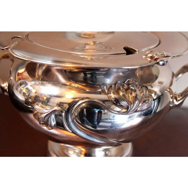 Art Nouveau Silver-Plate Tureen - Image 4 of 4
