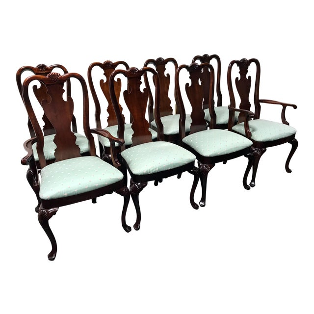 Thomasville Mahogany Collection Queen Anne Shell Dining