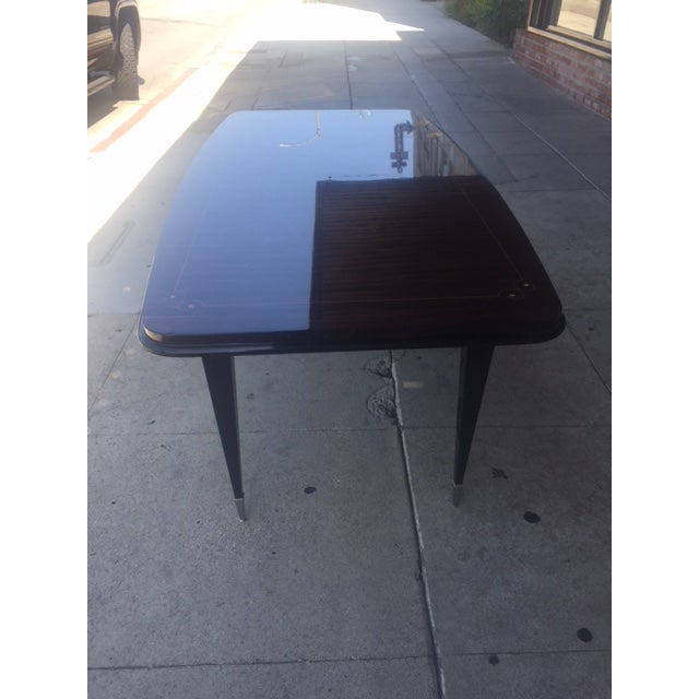 Art Deco 1940's French Deco Writing Table For Sale - Image 3 of 12