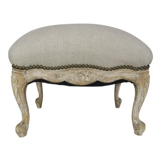 French Louis XV Style Linen Bench, Circa 1900 For Sale