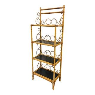 Vintage Italian Bent Bamboo Shelf For Sale