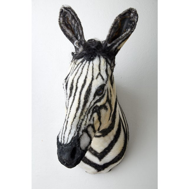 Artisan Sculpture of Zebra Using Faux Materials For Sale - Image 9 of 9