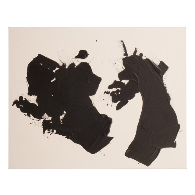 Stephen Hansrote Original Black and White Abstract Painting on Gallery Wrapped Canvas For Sale - Image 4 of 7