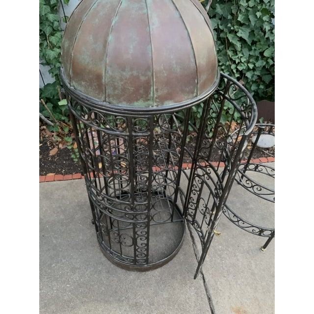 Maitland-Smith Copper Domed and Iron Wine Rack For Sale - Image 9 of 12