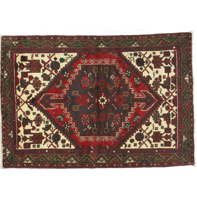 "Leon Banilivi Persian Hamadan Rug - 3'7"" x 5'2"" For Sale - Image 4 of 6"