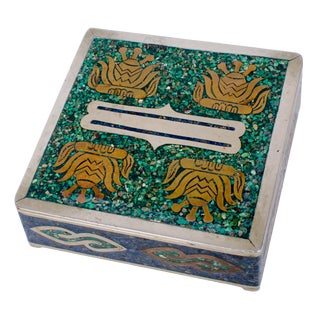 Alpaca Taxco Silver Trinket Box For Sale