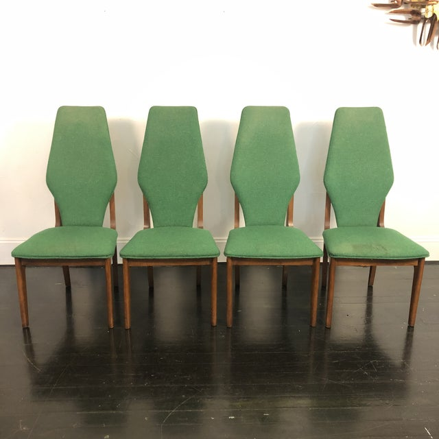 Sculptural High Back Dining Chairs- Set of 4 For Sale - Image 10 of 10