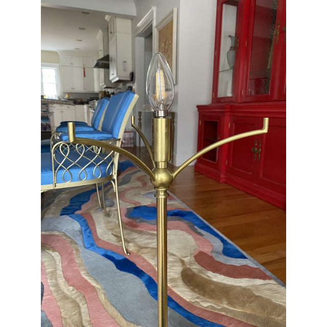 Brass Candlestick Table Lamps - a Pair For Sale In Boston - Image 6 of 10