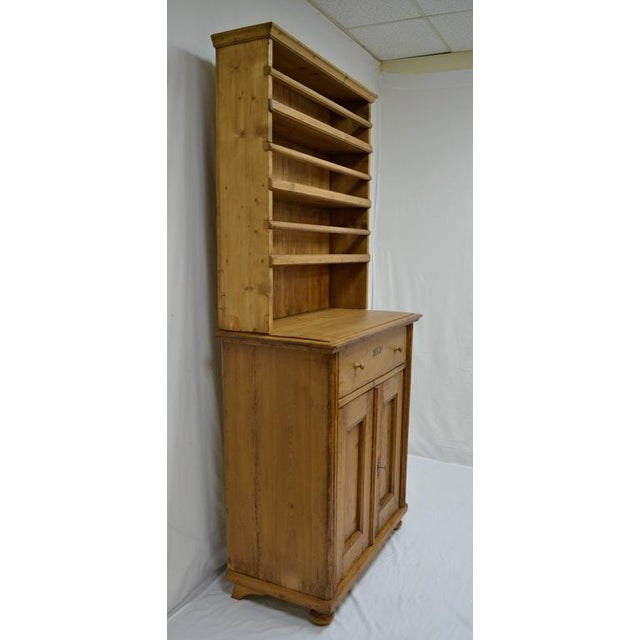 Country Pine Two-Piece Open Rack Dresser For Sale - Image 3 of 8