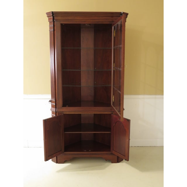 Brown Councill Craftsmen Chippendale Mahogany Corner Cabinets- A Pair For Sale - Image 8 of 13