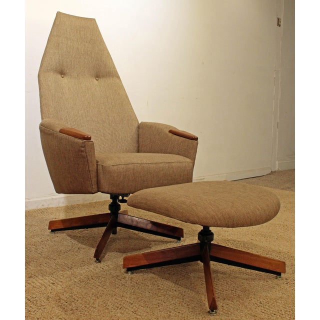 Mid-Century Modern Adrian Pearsall Lounge Chair & Ottoman 2174c For Sale - Image 10 of 10