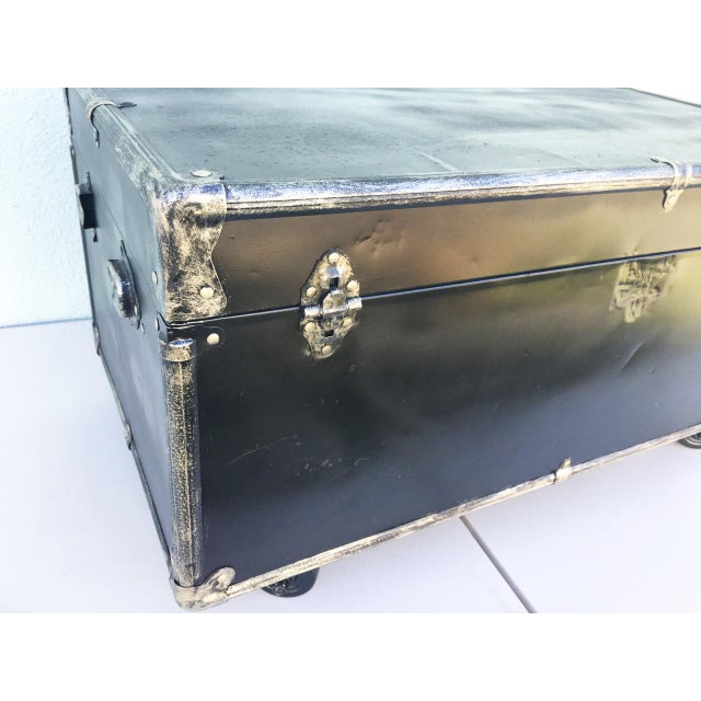 Upcycled WWII Trunk on Wheels For Sale - Image 9 of 9