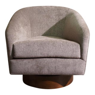 Milo Baughman Swivel Tub Chair
