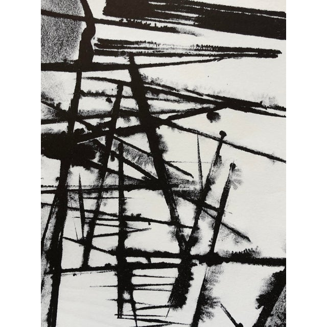 """Jerry Opper Abstract Print 1940-1950's Stone Lithograph on Paper 17.5""""x23"""", Unframed Came from a portfolio of his work..."""