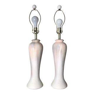Postmodern Pastel Washed Palace Vase Lamps - a Pair For Sale