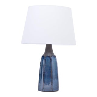 Vintage Blue Stoneware Model 1042 Table Lamp by Einar Johansen for Søholm, 1960s For Sale