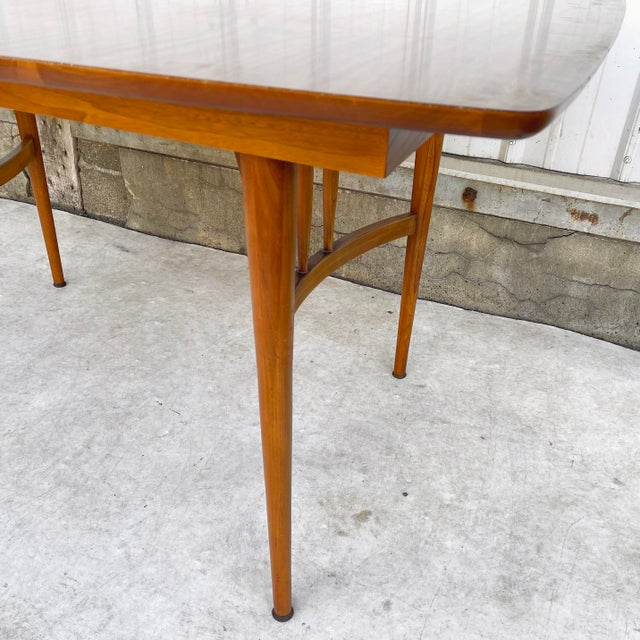 Mid-Century Dining Table With Two Leaves For Sale - Image 9 of 13
