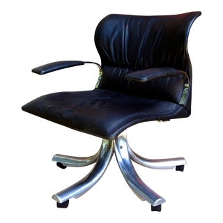 1970s Vintage Giovanni Offredi Executive Chair For Sale